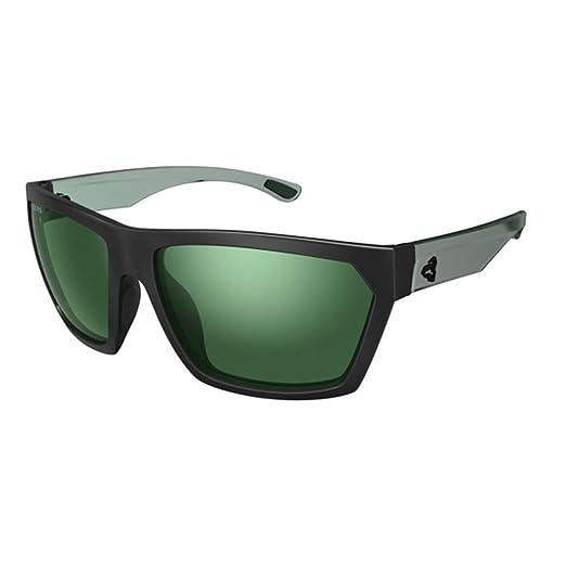 2e9ef9db039 Ryders Eyewear Loops Black Green with Polarized Green Silver Flash Lens