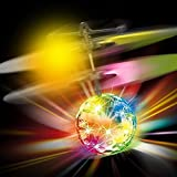 GTC- Flying Ball with Motion Sensors and LED Lights,Disco Changing Color Flying Ball, Multi Color