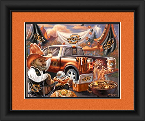 Prints Charming 4865505123 Oklahoma State Cowboys Tailgate Print Wall Decor - 15 x 18 in.