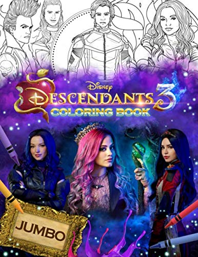 Descendants 3 Coloring Book: Jumbo Descendants 3 Coloring Book With 33 Premium Images