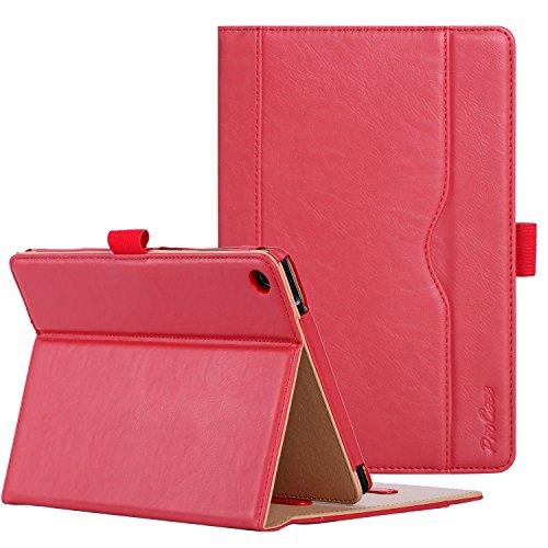 ProCase ASUS ZenPad S 8.0 Z580C Case (2015 ZenPad Z580C,Z580CA) with Bonus Stylus Pen - Stand Cover Folio Case for ASUS ZenPad S 8.0 Z580C, Multiple Viewing Angles, Document Card Pocket (Red)