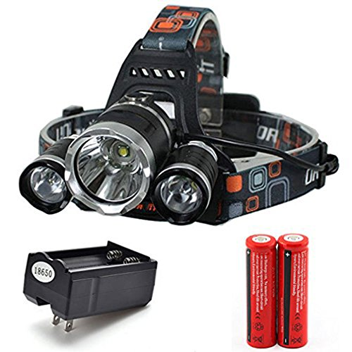 10000LM XML T6 LED Recharge Headlamp Headlight Torch+charger +2x18650 Battery