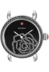 MICHELE Women's MW03T02K2017 CSX Analog Display Swiss Quartz Silver Watch Head