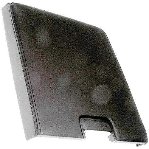 APDTY 035946 Center Console Lid Assembly w/ Latch 2007-2013 Chevrolet GM Trucks Black, Plastic, Vinyl (Front Row Split Bench; View Compatibility Chart To Verify Fitment; Replaces 20864151) ()