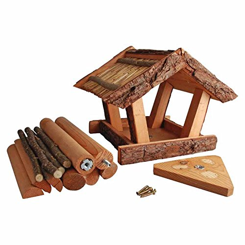 Fallen Fruits Bark Wood and Straw Bird Table FB256