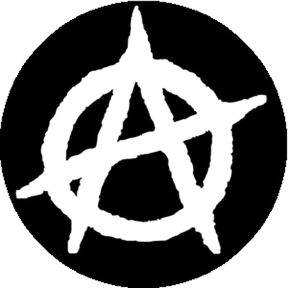 Amazon Good Looking Corpse Badge Button Anarchy Symbol