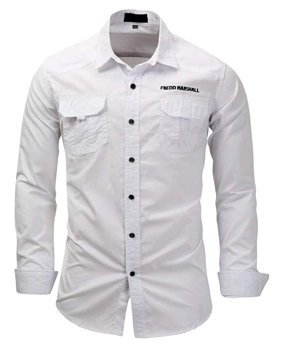 GenericMen Casual Long Sleeve Slim Fit Button Down Shirts Top