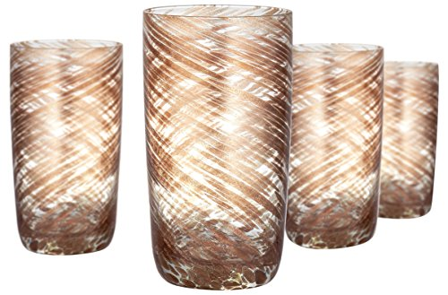 Artland Misty Highball Glass (Set of 4), 15 oz, Clear
