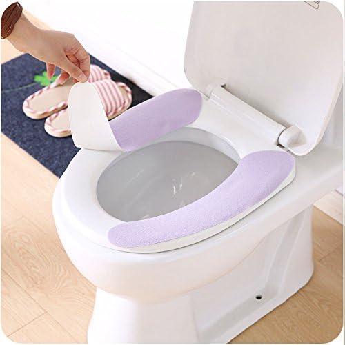 2PCS salle de bain siège de toilettes Closestool lavables Doux Warmer Mat Cover Pad