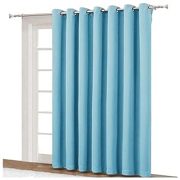 Amazoncom Nicetown Sliding Glass Door Curtains Patio Door Blinds