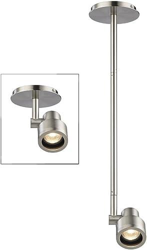 Stepped Cylinder Adjustable Monopoint- Satin Nickel – GU10 Base