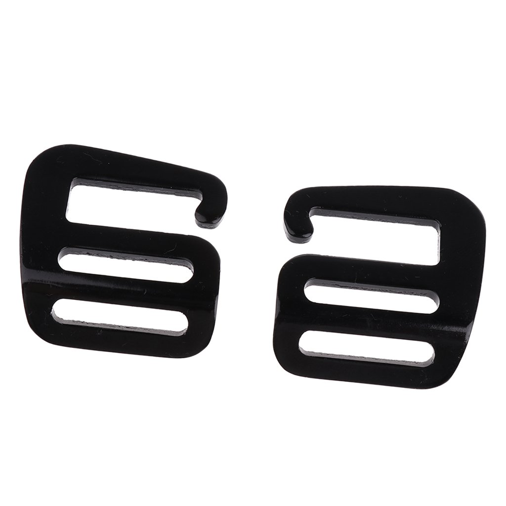 Baoblaze 8 Pcs 1 G Hook Webbing Buckle Backpack Strap Fasten Belt Clip Durable Hardware Black