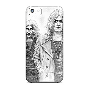 AlissaDubois Iphone 5c Shock Absorbent Hard Cell-phone Case Allow Personal Design Lifelike Black Sabbath Band Pictures [BCU1546ROur]