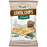Simply7 Gluten Free Lentil Chips, Jalapeno, 4 Ounce (Pack of 12)