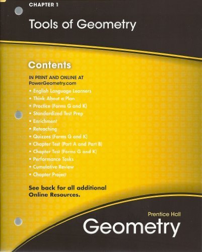 Tools of Geometry, Chapter 1, All-in-One Teaching Resources