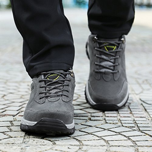 Damen Blau Schwarz Armee Hiking Outdoor Grün Trekking 2 Schuhe Grau Herren Sports Grau 48 Sneaker Wanderschuhe NEOKER 36 7xPwI