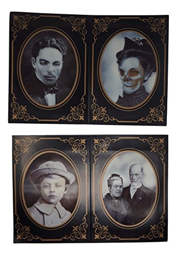 (Holographic Horror Photos with Cardboard Frame Props -Set of four (each 5 x)