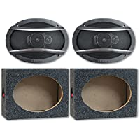 Package Pair of Pioneer TS-A6966R 6x9 3-way Car Audio Speakers 420w with (Optional) Speaker Boxes