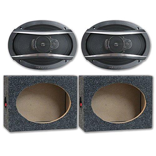 Car Audio Speaker Enclosures (Package Pair of Pioneer TS-A6966R 6x9 3-way Car Audio Speakers 420w with (Optional) Speaker Boxes)