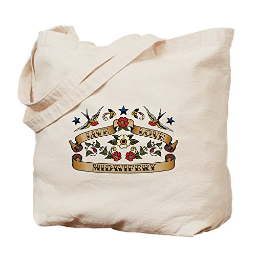 Cloth Shopping CafePress Bag Canvas Tote Natural Bag Midwifery Love Live rw8rH0