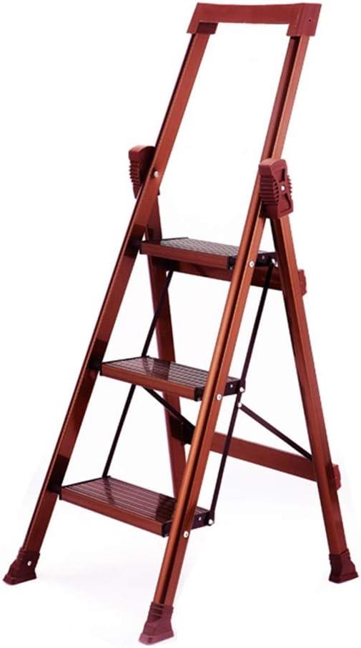XEWNEG Escalera con peldaños Escalera Plegable Ligera de Aluminio portátil con peldaños de Seguridad Antideslizantes, Carga máxima 150 kg: Amazon.es: Hogar