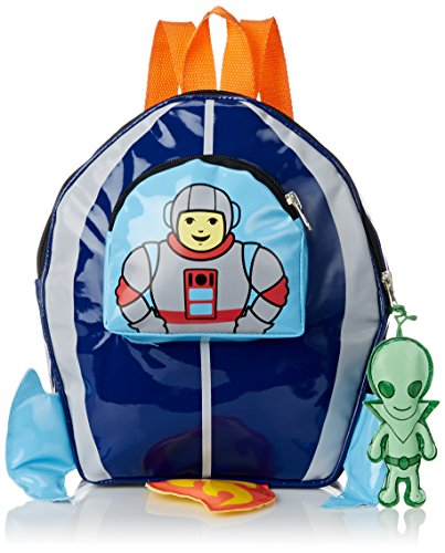 Kidorable Toddler (7 x 10 inches) Blue Space Hero Fun Alien Zipper & 3D Embellishments (Fun Embellishment)