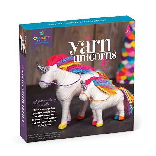 Yarn Animals - Craft-tastic – Yarn Unicorns Kit – Craft Kit Makes 2 Yarn-Wrapped Unicorns