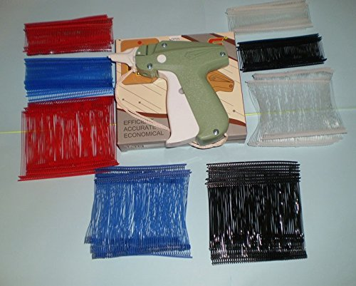 CLOTHING PRICE LABEL TAGGING TAGGER GUN WITH 2000 pins barbs FASTENER ASSORTED by REFINE
