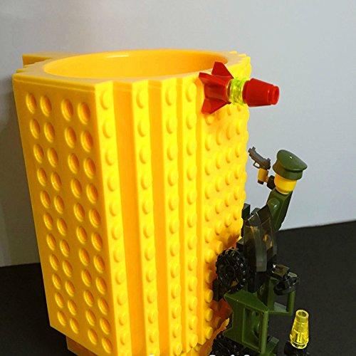 Build-On Brick Mug Coffee Cup DIY Type Plastic Creative Building Blocks Coffee Tea Beverage Drinking Funny Gift