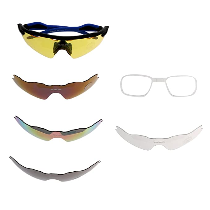 Sharplace 5pcs Gafas Polarizadas de Sol Accesorio Verano Playa Seguridad De Moda Negro Azul