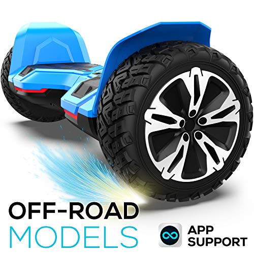 Hoverboard Off Road All Terrain Warrior Hoverboards with 8.5 inch Tires, self Balance Hover board with Colorful LED Lights UL2272 Certificated and Music Speaker app Function Smart Hoverboard