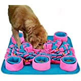 Interactive Dog Toys-Pet Snuffle Mat,Wooly Feeding Traning Mat,Dog Nosework Mat Thicken Anti-Slip Dog Feed Mat for Training a
