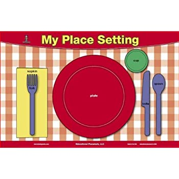 Amazon.com: Table Setting & Manners Placemat: Home & Kitchen
