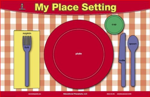 (Table Setting & Manners Placemat)
