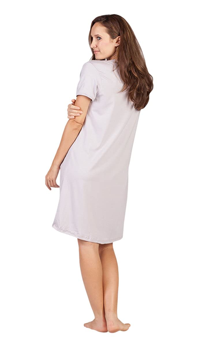 c55f3c29b6d90 Savi Mom Nursing Nightgown USA Made Cotton. Breastfeeding Pumping mom's  fav! Lounge Dress Delivery Gown at Amazon Women's Clothing store: