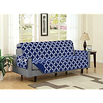Amazoncom Lush Decor Geo Furniture Protector Sofa Taupe Home
