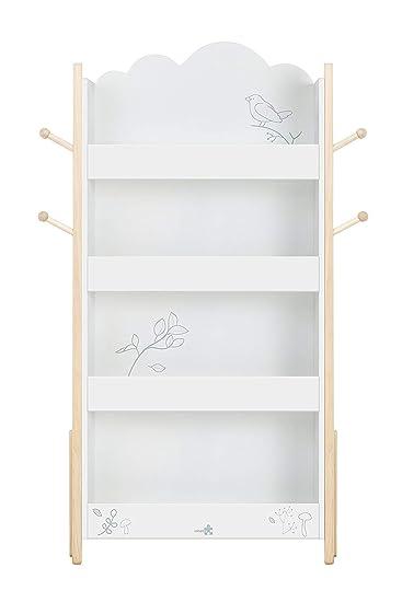 Labebe ☛ 7 Tage ☚ Kind Bücherregal, hölzernes weißes Bücherregal ...