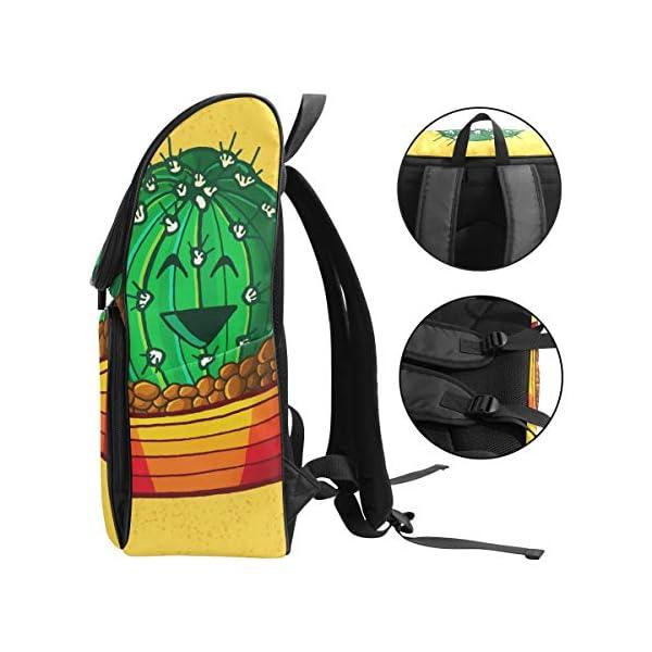 DXG1 Zaino Giallo Cactus Borsa Moda per Donne Uomini Ragazzo Ragazzo Bookbag Viaggio College Casual Zaino Prescolare… 3 spesavip