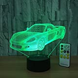 Night Light Toy Car 3d Night Light Beside Lamp Help Kids Fell Safe at Night Remote Contol Adjustable 7 Colors Perfect Birthday Gift for Kids Great Toy Gift Idea for Kids by Csygood(Toy Car)
