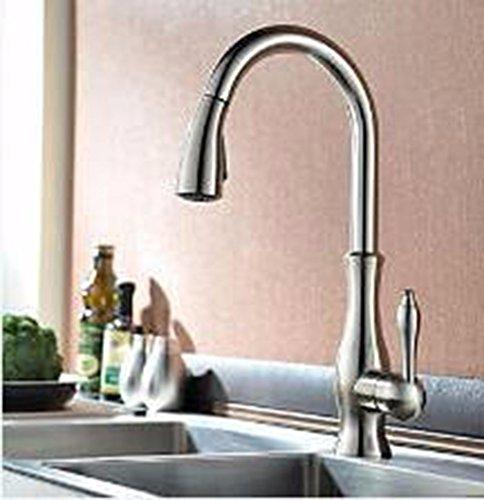 SJQKA-Faucet Basin faucet, all copper faucet, pull type basin faucet, hot and cold draw basin faucet,B by SJQKA