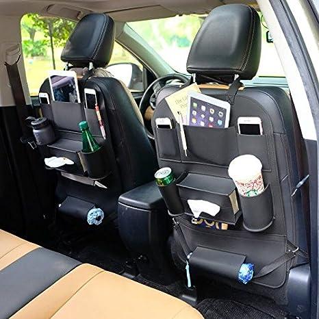 Protector de Asiento organizador coche protecdor asiento Kick Mats Universal Multi-Bolsillo asiento coche para