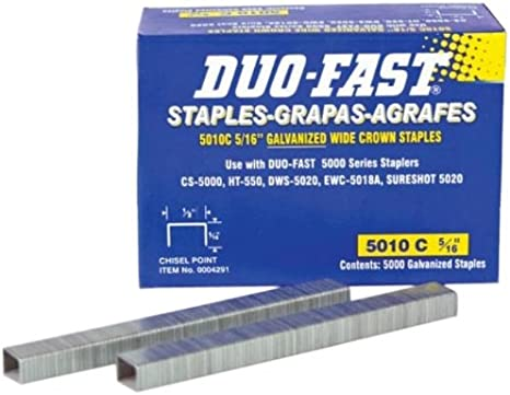 Sold By 2 Pack Duo Fast 5010-C Box Of 5000 5//16 Inch Staples