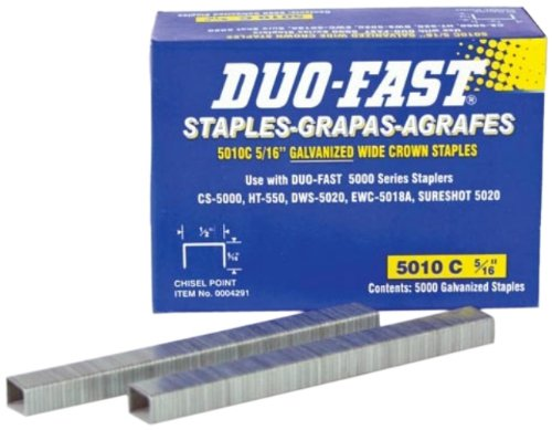 6-Inch x 20 Gauge Chisel Staples (Electric Carpet Stapler)