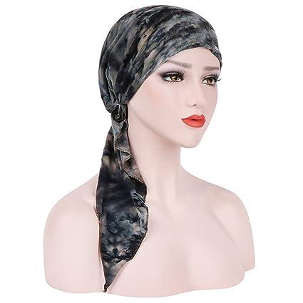Gemini Mall® donne India Musulmano stile causale cappellini tappi Hijab  Muslim cappelli stretch turbante cappello 80a7cd6d64a3