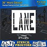 Pavement Marking Stencils - 36 inch Lane Stencil - 36'' x 44'' x 1/8'' (128 mil) - Pro-Grade