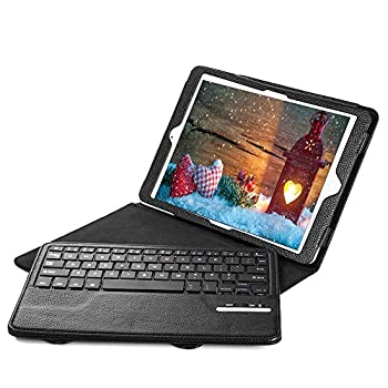 Ipad Air Ipad Air 2 Keyboard + Leather Cover, Poweradd Bluetooth Ipad Keyboard Cover W Removable Wireless Keyboard, Built-in Multi-angle Stand For Apple Ipad Air 12, Ipad 56 [Ios 10+ Support] 0