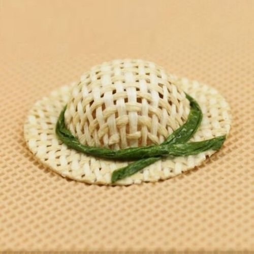 - EatingBiting(R) Dollhouse Miniature Re-Ment 1:12 Scale Doll Princess Girls Straw Hat DIY Scene Doll Home Furniture Craft , Hat Sunhat Dollhouse Decoration Accessories for Kid Children