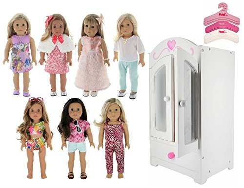 PZAS Toys American Girl Doll Furniture Armoire - 18