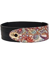 21bac836f Womens Leather Waist Belts For Dress Buckle Cinch Belt Italian Cowhide