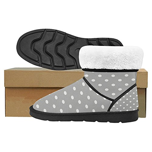 Polka Gray Winter Comfort 1 Boots Dot Boots Multi Designed Snow Womens InterestPrint Unique CXcaqzOXw